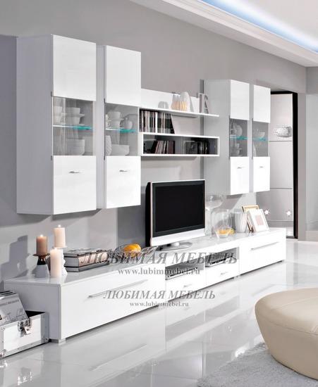 Гостиная Янг (Jang) белый блеск 2 (фото, вид 2)