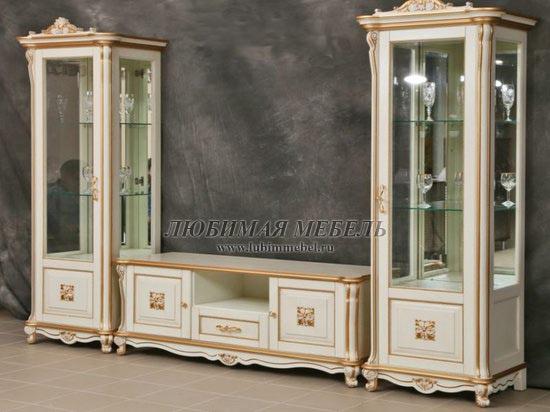 Шкаф с витриной Алези 8 Люкс (фото, вид 1)