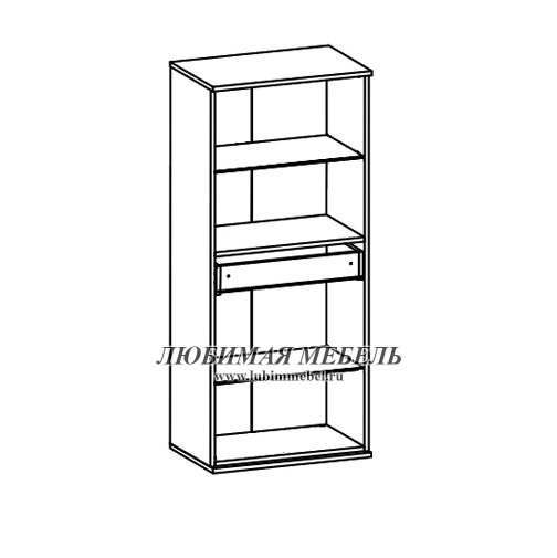 Шкаф настенный Лайк SFW2W1S_14_6 (фото, вид 1)