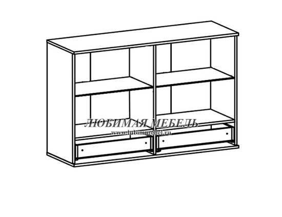 Шкаф настенный Лайк SFW2W2S_8_12 (фото, вид 1)