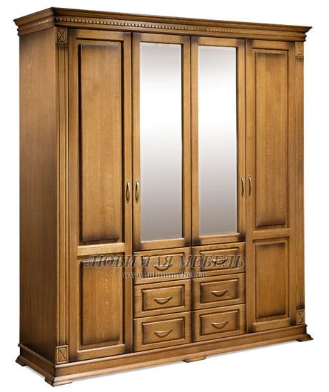 Шкаф четырехдверный Верди (фото, вид 1)