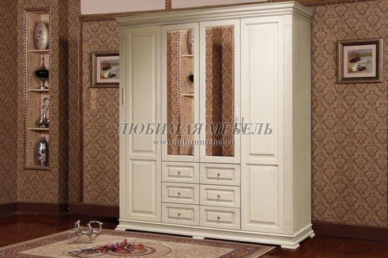 Шкаф четырехдверный Верди (фото, вид 2)