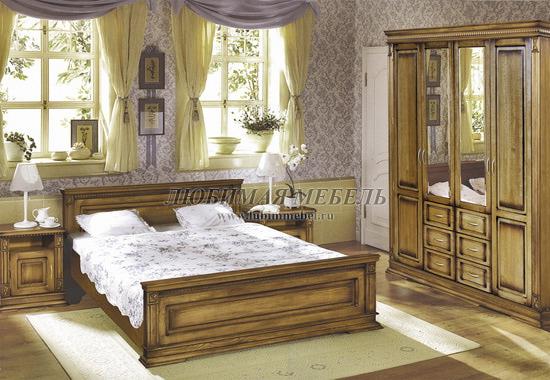 Шкаф четырехдверный Верди (фото, вид 3)