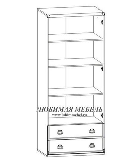 Шкаф с полками Индиана (фото, вид 2)
