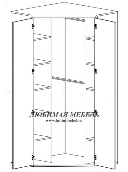 Шкаф угловой Индиана (фото, вид 1)