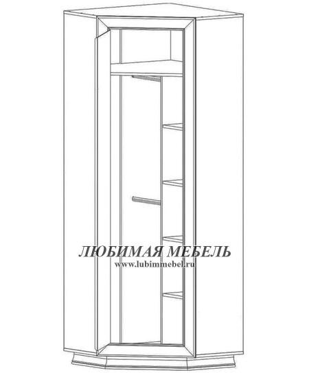 Шкаф угловой Мальта (фото, вид 1)