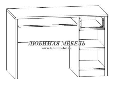 Стол письменный Салерно (фото, вид 1)