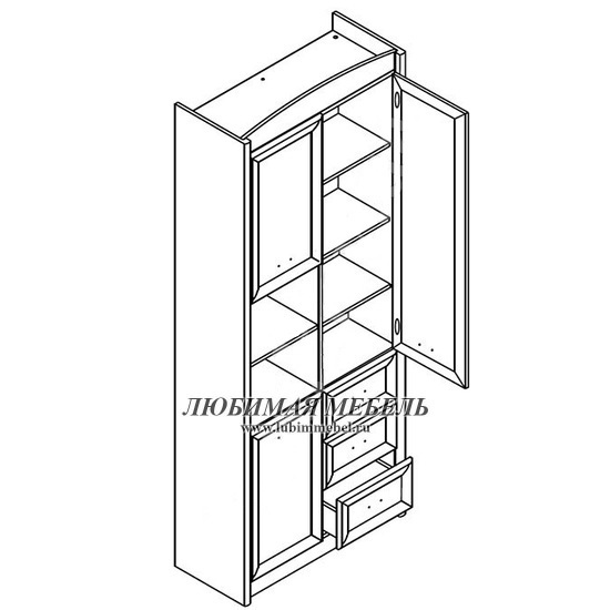 Шкаф комбинированный Салерно (фото, вид 1)