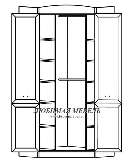 Шкаф угловой Салерно (фото, вид 2)