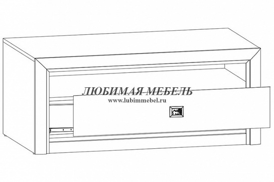 Тумба ТВ Коен RTV1S (фото, koen_rtv1s_venge_magiya_3)