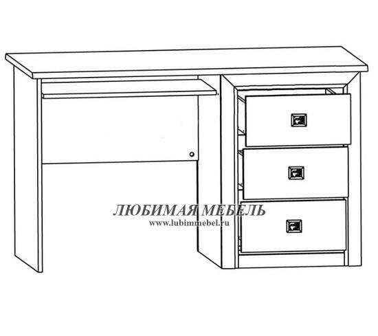 Стол письменный Коен BIU/130 (фото, вид 1)