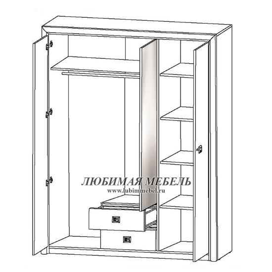 Шкаф Коен SZF3D2S (фото, вид 2)