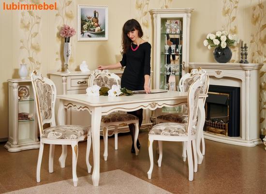 Стол обеденный Алези 2Е слоновая кость (фото, вид 2)
