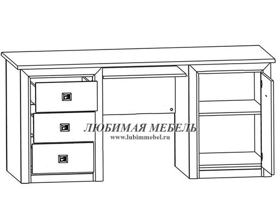 Стол письменный Коен BIU/170 (фото, вид 1)