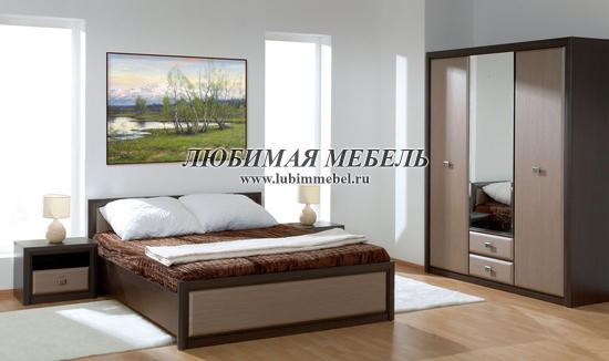 Кровать Коен LOZ90 (фото, Кровать LOZ90х200 венге магия в интерьере спальни)