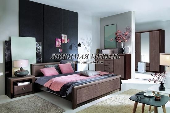 Кровать Коен LOZ140 (фото, Кровать Коен LOZ140 в интерьере спальни)