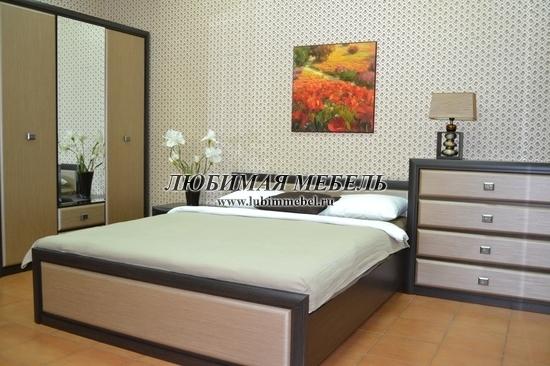 Кровать Коен LOZ160 (фото, Кровать Коен LOZ160 в интерьере спальни)