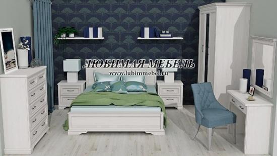 Полка Стилиус (фото, Полка Стилиус POL100 в интерьере спальни)