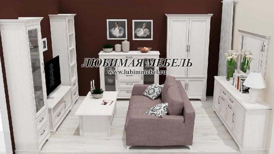 Шкаф Стилиус (фото, Шкаф Стилиус REG2S в интерьере гостиной)