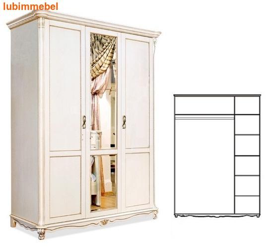 Шкаф 3-х дверный Алези (фото, вид 2)
