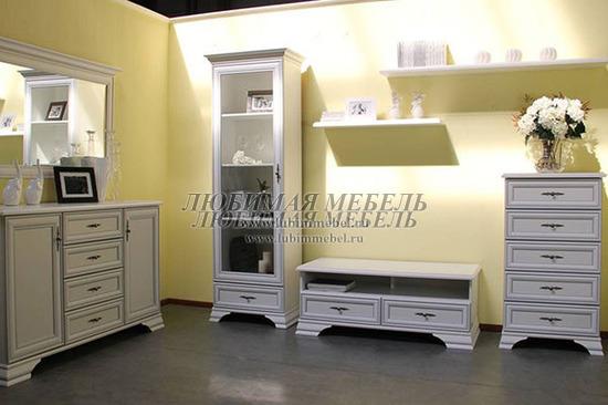 Гостиная Кентаки (Kentaki) белый (фото, вид 3)