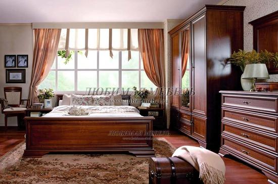 Спальня Кентаки (Kentaki) каштан (фото, вид 1)