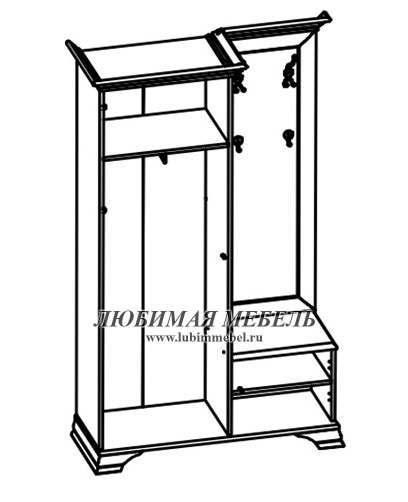 Шкаф с вешалкой Кентаки (левый) (фото, вид 1)