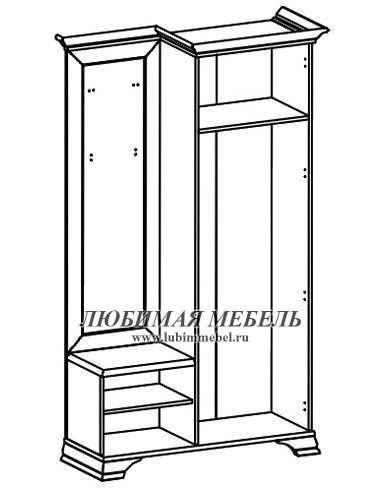 Шкаф с вешалкой Кентаки (правый) (фото, вид 1)