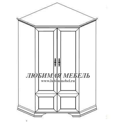 Шкаф угловой Кентаки SZFN2D (фото, вид 2)