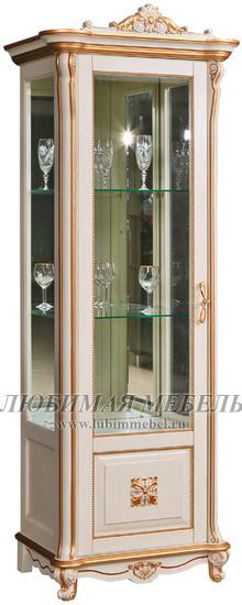 Шкаф с витриной Алези 8 Люкс (фото)