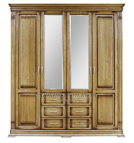 Шкаф четырехдверный Верди (фото)