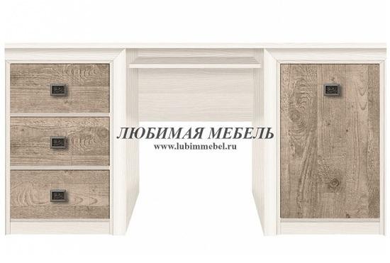 Стол письменный Коен BIU/170 (фото, BIU/170 ясень снежный/сосна натуральная)