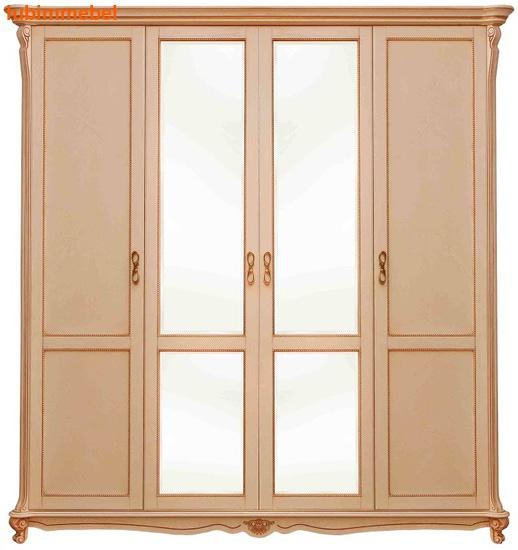 Шкаф 4-х дверный Алези (фото)