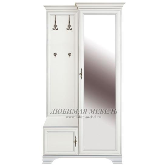 Шкаф с вешалкой Кентаки (правый) белый (фото)