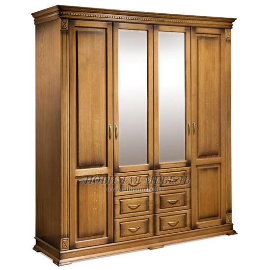 Шкаф четырехдверный Верди черешня (фото)