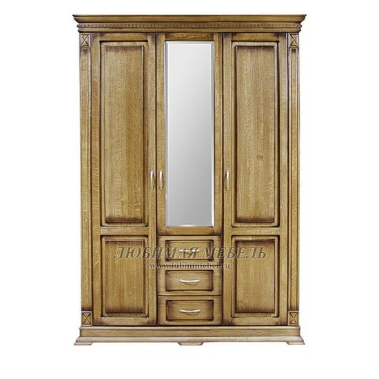 Шкаф трехдверный Верди дуб рустикаль (фото)