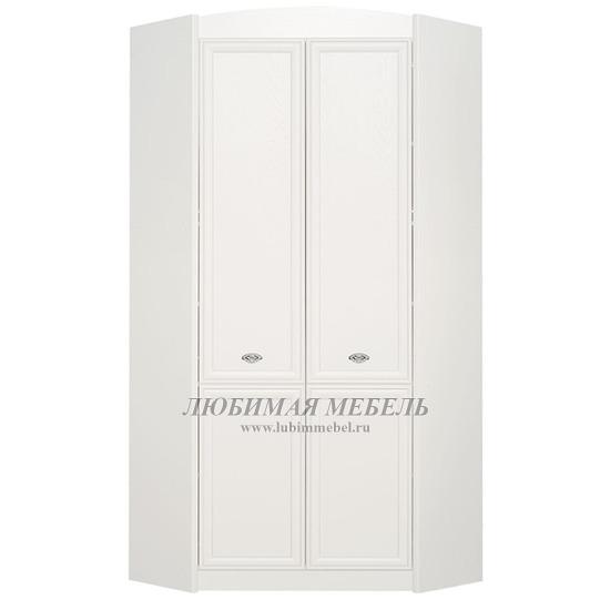 Шкаф угловой Салерно белый (фото)